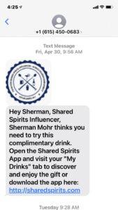Influencer Ambassador Drink Share